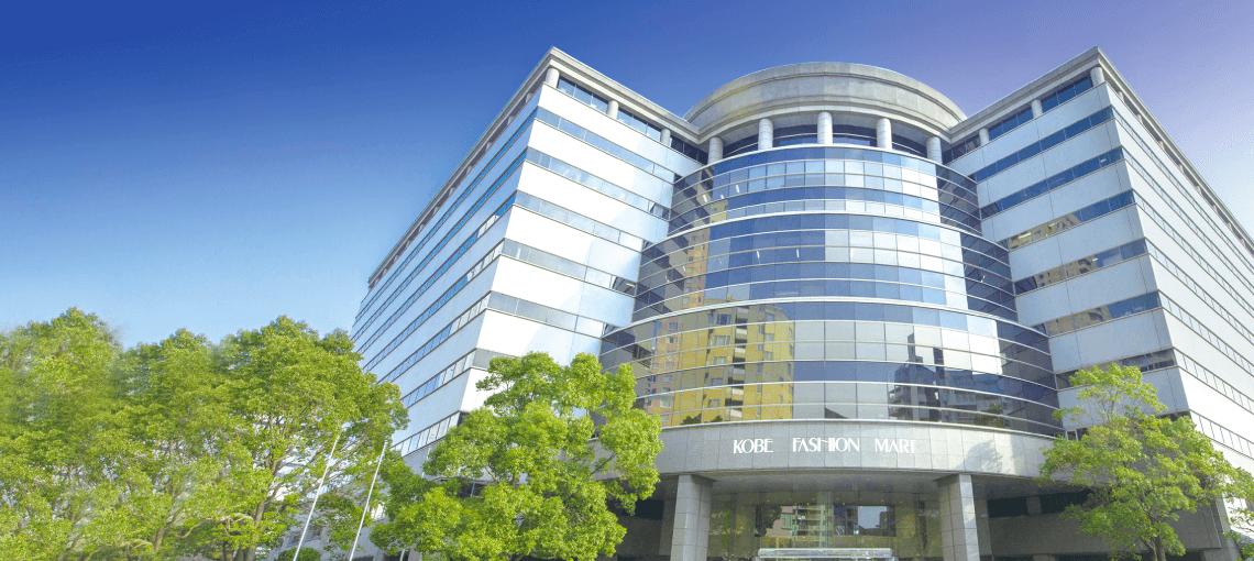 神戸・六甲アイランドオフィス、ショップ、貸し会場からなる大型複合施設