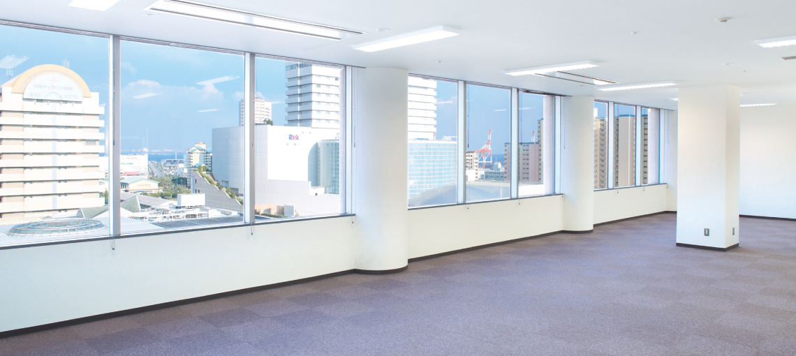 事業規模に合わせて選べる様々な広さの賃貸オフィス