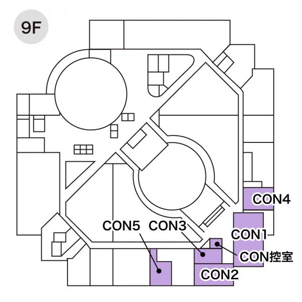 コンベンションルーム配置図