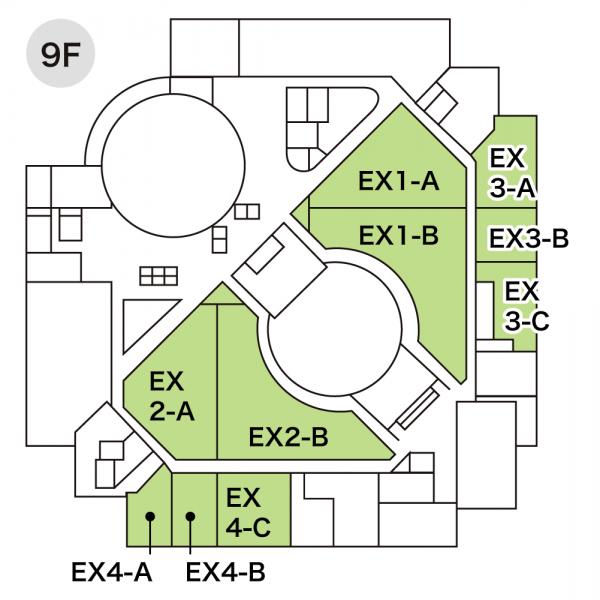 エキジビションスペースの配置図