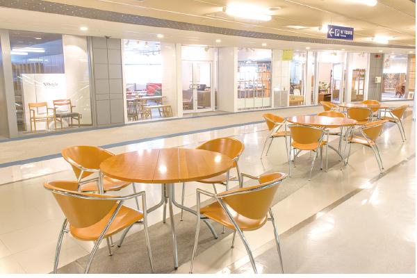 神戸ファッションマートの賃貸オフィスは充実した館内設備。