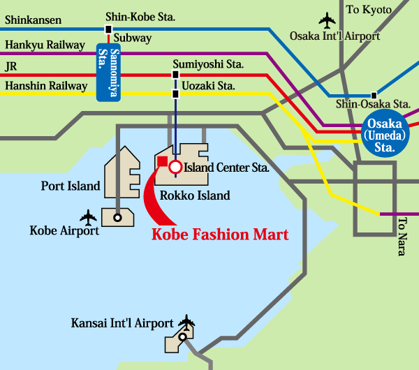 Kobe Fashion Mart suburbs map